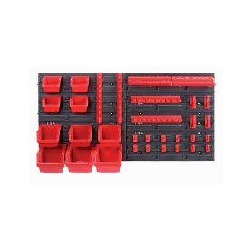 KISTENBERG KOR4-S411-3020 Závěsný panel s 10 boxy a 22 držáky na nářadí ORDERLINE 800x165x400 Kufry a pořadače nářadí