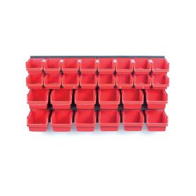 KISTENBERG KOR3-S411-3020 Závěsný panel s 30 boxy na nářadí ORDERLINE 800x165x400 Kufry a pořadače nářadí