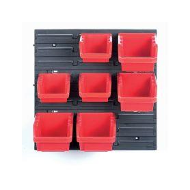 KISTENBERG KOR5-S411-3020 Závěsný panel se 7 boxy na nářadí ORDERLINE 400x110x400 Kufry a pořadače nářadí