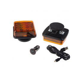 WL-H05ORA LED výstražné světlo, oranžové, ECE R65, set 2ks Výstražná světla