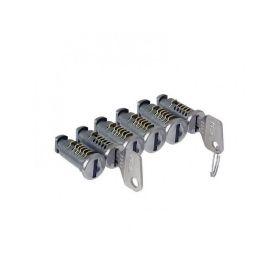 Sada zámků CRUZ 6ks Zámky a klíče k nosičům