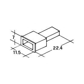 IMP 428983 Kryt koliku 6,3mm bily Izolační kryty Faston