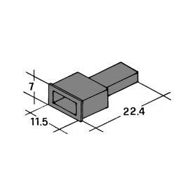IMP 428983 N Kryt koliku 6,3mm cerny Izolační kryty Faston