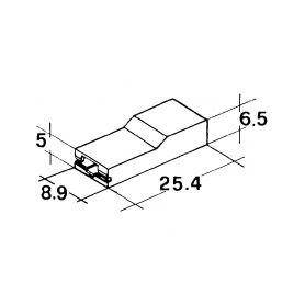 IMP 428984 5000 Kryt dutinky 6,3mm bily Izolační kryty Faston