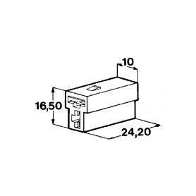 IMP 428988 Kryt 2ks dutinky 6,3 mm Izolační kryty Faston