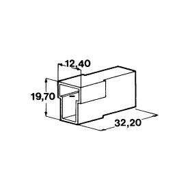IMP 428989 Kryt 2ks koliku 6,3 mm Izolační kryty Faston