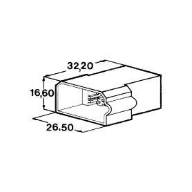 IMP 428995 Kryt 4 ks koliku 6,3 mm Izolační kryty Faston