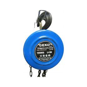 GEKO G01095 Kladkostroj řetězový 1000kg Navijáky a kladkostroje
