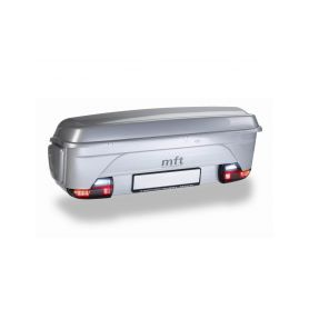Box MFT BackBox + modul BackCarrier, šedý - na tažné zařízení Přepravní boxy na tažné zařízení