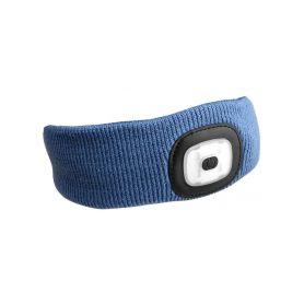 SIXTOL SX5021 Čelenka s čelovkou 180lm, nabíjecí, USB, univerzální velikost, modrá Čelovky