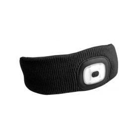 SIXTOL SX5022 Čelenka s čelovkou 180lm, nabíjecí, USB, univerzální velikost, černá Čelovky