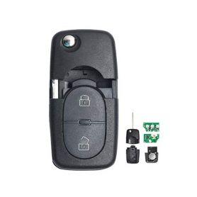 48VW079 Náhr. klíč pro Škoda, VW, Audi, Seat, 2tl., 433MHz, 1J0 959 753 A - 1