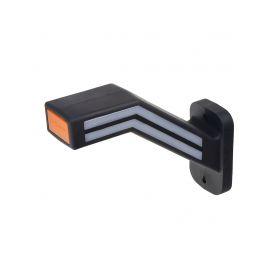 TRL190P Poziční LED (tykadlo) gumové pravé - červeno/bílo/oranžové, 12-24V,ECE Boční obrysová světl + tykadla