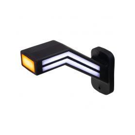 TRL191R Poziční LED (tykadlo) gumové pravé - červeno/bílo/oranžové, 12-24V,ECE Boční obrysová světl + tykadla