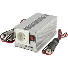 Měnič napětí 12V na 230V 300W s USB výstupem, HQ-INV300WU12F Domů