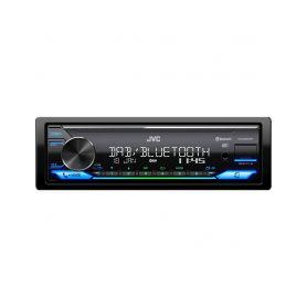 KD-X38MDBT JVC voděodolné DAB+ autorádio bez mechaniky/Bluetooth/USB/AUX/multicolor podsvícení/odním.panel DAB radiové tunery