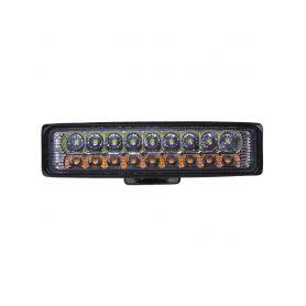WL-833 LED světlo obdélníkové, bílá + oranžová, 18x3W, 150 mm, ECE R10 Pracovní světla a rampy