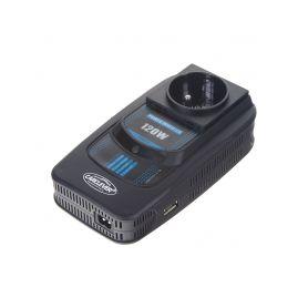 3512012 Měnič napětí z 12/220V + USB 120W Měniče z 12V na 230V