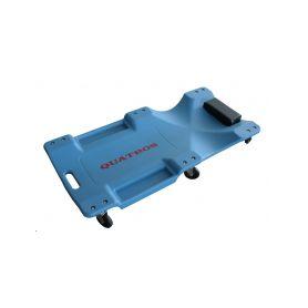 QUATROS Montážní plastové lehátko, pojízdné, s odkládacím prostorem QUATROS