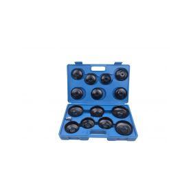 QUATROS QS60037 Klíče na olejové filtry, sada 15 kusů Klíče