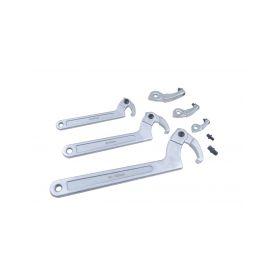 """QUATROS QS80422 Hákové kloubové """"C"""" klíče, 35 - 120 mm, sada 8 dílů Ostatní přípravky"""
