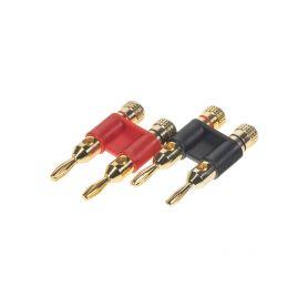 CP4072 Dual banana konektor pro kabel do 10mm (pár) GOLD instalační materiál