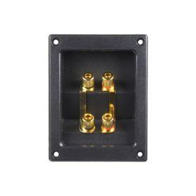 G4-36/4 Připojovací svorkovnice reproboxu 4-pólová, zlacená GOLD bloky + svorkovnice