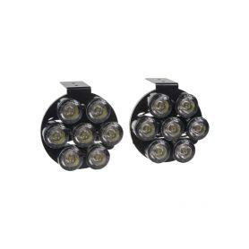 SJ-292EN LED světla pro denní svícení, kulatá 80mm, ECE Denní svícení UNI
