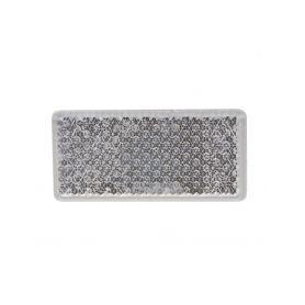 TRL51 Přední (bílý) odrazový element - obdélník 95 x 45mm nalepovací Reflexní odrazky