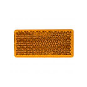 TRL51OR Boční (oranžový) odrazový element - obdélník 95 x 45mm nalepovací Reflexní odrazky