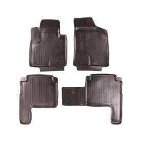 SIXTOL Gumové koberce Hyundai Santa Fe II Facelift (CM) (10-12) (2D) SIXTOL