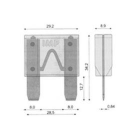 Plastové zásuvky  1-42001 Zásuvka 1-pólová, samička 42001
