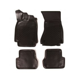 SIXTOL 3D Gumové koberce AUDI A6 III (C7), 2011-, Avant/Allroad/bez přihrádky na rukavice SIXTOL 4-hbc10705