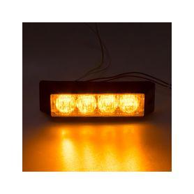 x PROFI výstražné LED světlo vnější, 12-24V, oranžové, ECE R65