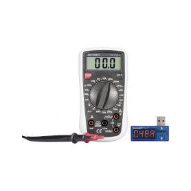 VOLTCRAFT Digitální multimetr VC130 + USB Power meter PM-37, 3 roky záruka VOLTCRAFT