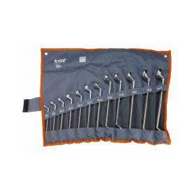 EXTOL-PREMIUM EX6233 Klíče očkové, sada 12ks, 6-32mm, CrV Očkové