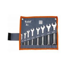 EXTOL-PREMIUM EX6119 Klíče ploché, sada 8ks, 6x7, 8x9, 10x11, 12x13, 14x15, 16x17, ... Ploché