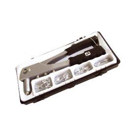 EXTOL-CRAFT EX7532 Kleště nýtovací + sada nýtů 60ks, pro trhací nýty 2,4-3,2-4,0-4,8mm z hliníku Nýtovací