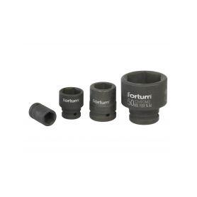 "FORTUM Hlavice nástrčná rázová, 3/4"", 19mm, L 52mm, CrMoV FORTUM 4-ex4703019"