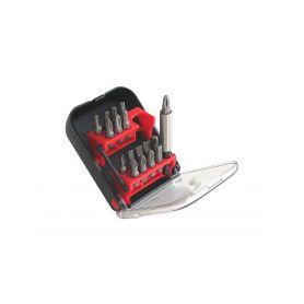 EXTOL-PREMIUM EX710011 Hroty, sada 18ks, magnetický držák hrotů z nerez oceli, CrMoV Bity