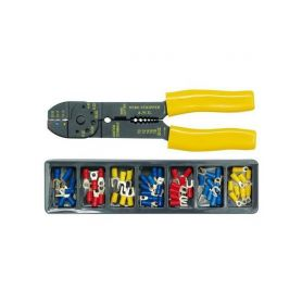 TOYA TO-45050 Kleště konektorové + konektory 100ks, ergonomická rukojeť Odizolovací