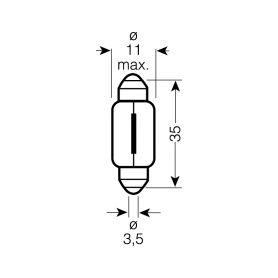 OS6418 OSRAM 12V C5W (SV8,5-8) 5W standard (10ks) Malé žárovky 12V