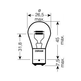 OS7225 OSRAM 12V P21/4W (BAZ15d) 21/4W standard (10ks) Malé žárovky 12V
