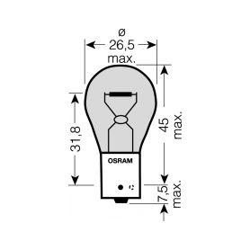 OS7507 OSRAM 12V PY21W (BAU15s) 21W standard (10ks) oranžová Malé žárovky 12V OSRAM