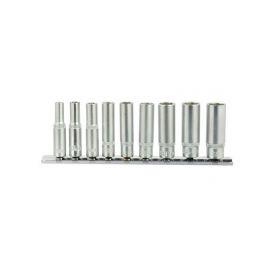 GEKO Hlavice nástrčné prodloužené, sada 9ks, 5-13mm GEKO