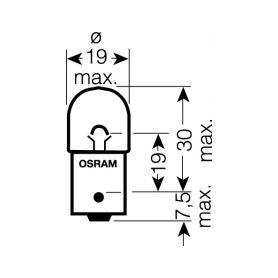 OS5007 OSRAM 12V R5W (BA15s) 5W standard (10ks) Malé žárovky 12V