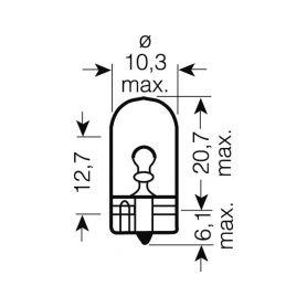 Stualarm LED T5 bílá, 12V, 3LED/SMD 1-95182cb