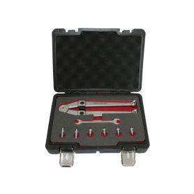 QUATROS QS50268 Nastavitelný klíč na matice s otvory, rozsah 21-90 mm, s adaptéry Ostatní