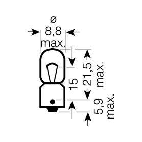 OS3893 OSRAM 12V T4W (BA9s) 4W standard (10ks) Malé žárovky 12V OSRAM