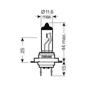 OS64215 OSRAM 24V H7 70W standard (1ks) Halogenové žárovky 24V